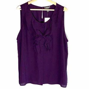 Kenneth Cole ruffle blouse- size XXL